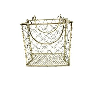 ALL METAL BASKET WITH HANDLES
